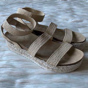 Esprit Gigi Woven Rope Platform Espadrille Sandals